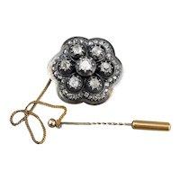 Victorian Old Mine Cut and Rose Cut Diamond Brooch
