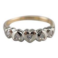 Mid Century Diamond Heart Band