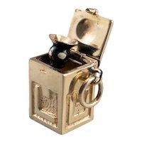 Vintage Enamel Jack in The Box Charm
