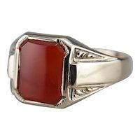 Vintage Carnelian Unisex Ring