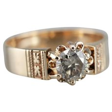 Upcycled Champagne Diamond Ring