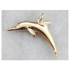 Jumping Dolphin Charm or Pendant