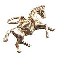Vintage Trotting Horse Charm
