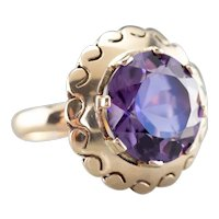 Funky 1970s Amethyst Cocktail Ring