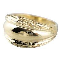 Textured 18 Karat Gold Dome Ring