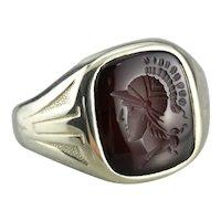 Men's Art Nouveau Carnelian Intaglio Ring