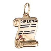 1959 Enamel Diploma Graduation Charm