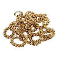 Ornate Victorian Era Chain Necklace