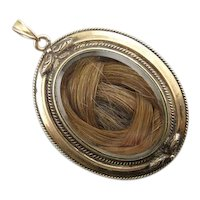 Gracious Sentiment: Victorian Hair Locket, Mourning Jewelry