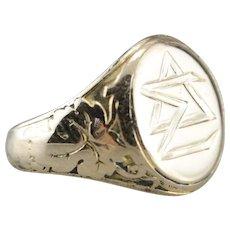 Antique Delta Sigma Class Signet Ring