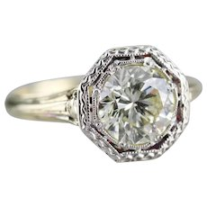 Upcycled Diamond Solitaire Engagement Ring