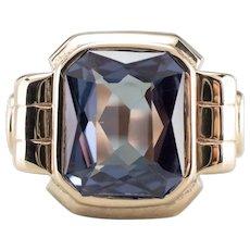 Retro Era Synthetic Alexandrite Ring