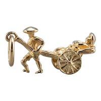 14 Karat Gold Rickshaw Charm