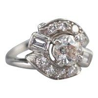 European Cut Diamond Cocktail Ring