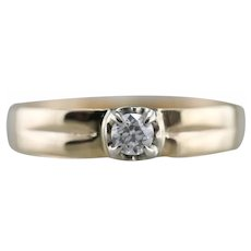 Men's European Cut Diamond Ring