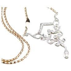 Outstanding Diamond Lavalier Necklace