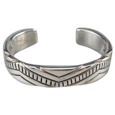 Joe Paul Navajo 925 Sterling Silver Cuff Bracelet