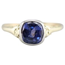 Lovely Color Change Sapphire Ring