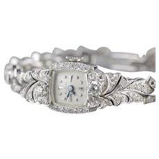 Vintage Diamond Bulova Ladies Wrist Watch