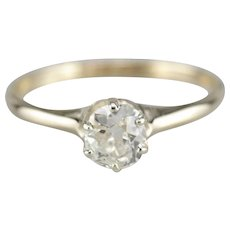 Old Mine Diamond Solitaire Engagement Ring