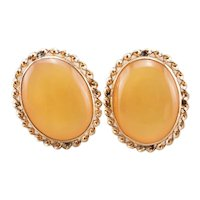 Vintage Yellow Mother of Pearl Stud Earrings