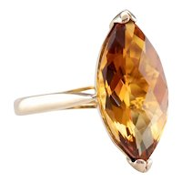 Marquise Cut Citrine Cocktail Ring