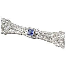 1920's Filigree Diamond Bar Pin