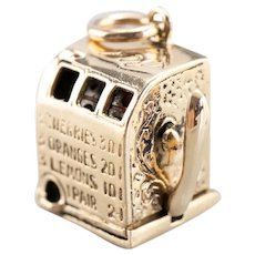 Vintage Working Slot Machine Charm with Moving Lever