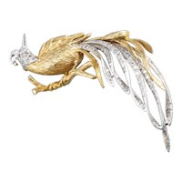 Luxurious Diamond Bird Statement Brooch