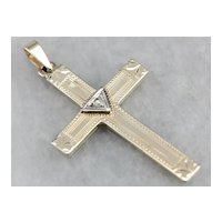 Unisex Retro Era Diamond Cross Pendant