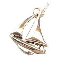 Little Vintage 10 Karat Gold Sailboat Charm