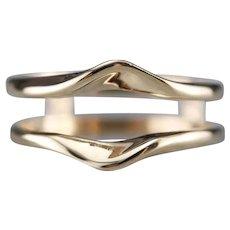 Minimalist 14 Karat Gold Wrap Band