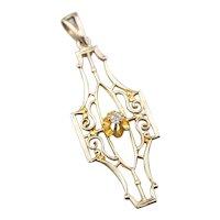 Upcycled Buttercup Diamond Filigree Pendant