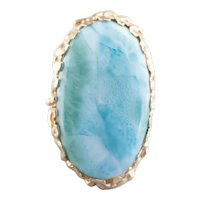 Vintage Larimar Cocktail Ring