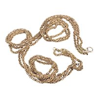 Multi Strand Specialty Chain Necklace