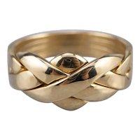 18K Interlocking Puzzle Band Ring
