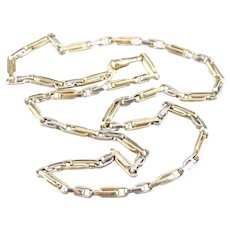 Italian Double Fetter Link Chain Necklace