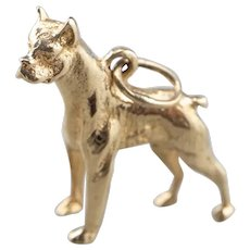Standing Boxer Dog Charm or Pendant