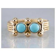 Nautical Vintage Turquoise Ring
