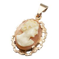 Victorian Cameo 9Ct Rose Gold Pendant