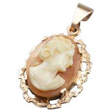 Victorian Cameo 9Ct Rose Gold Pendant