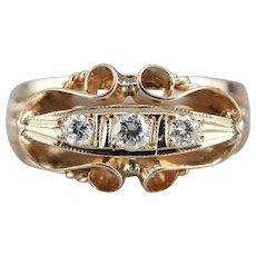 Upcycled Three Stone Diamond Ring
