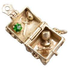 Demantoid Garnet Treasure Chest Charm