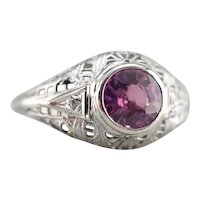 Upcycled Pink Sapphire and Diamond Ring