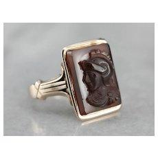 Antique Sardonyx Cameo Ring