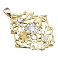 Ornate Upcycled Diamond Filigree Pendant