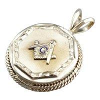 Upcycled Masonic Pendant