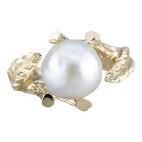 Spectacular Cultured Pearl Cocktail Ring