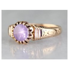 Gorgeous Star Sapphire Solitaire Ring