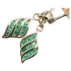 Sleek Emerald Drop Earrings